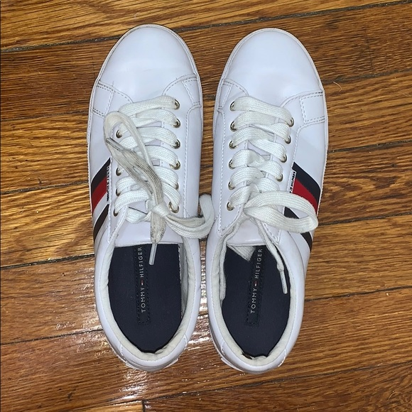 TOMMY HILFIGER STAR Sneakers Shoes with Spellout and Box
